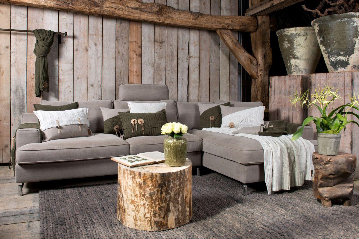 barley cushion green 60x40
