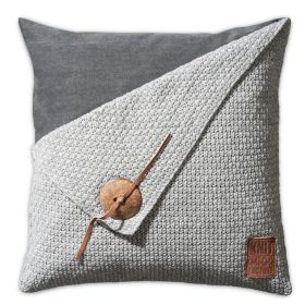 Barley Cushion Light Grey - 50x50