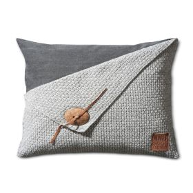 Barley Cushion Light Grey - 60x40
