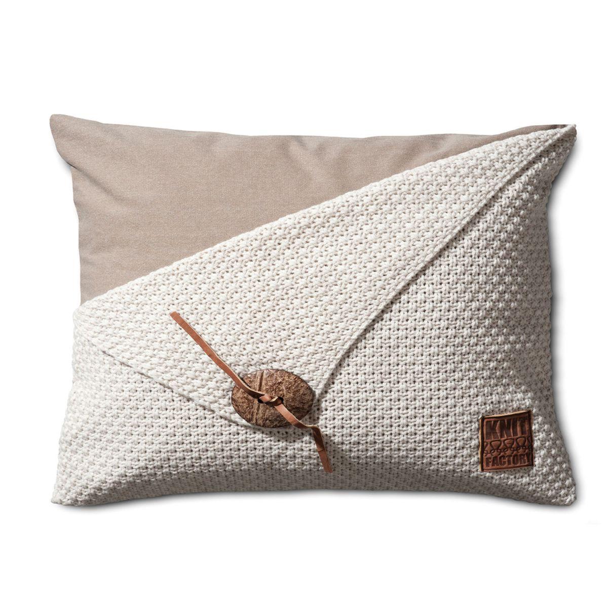 knit factory 1111312 kussen 60x40 barley beige