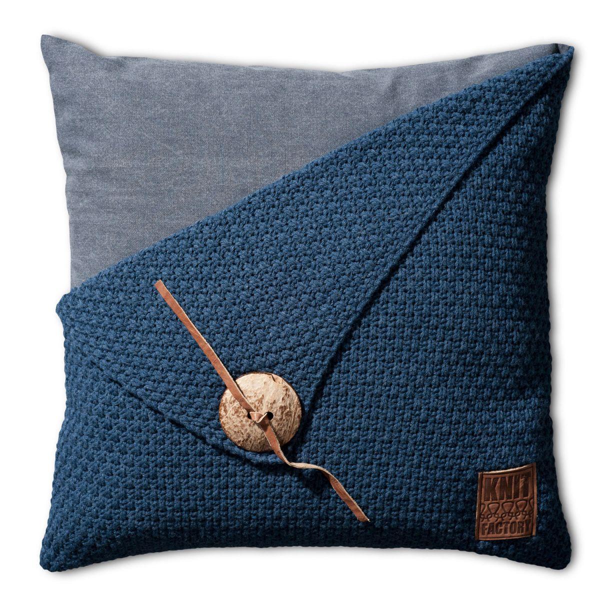 knit factory 1111213 kussen 50x50 barley jeans