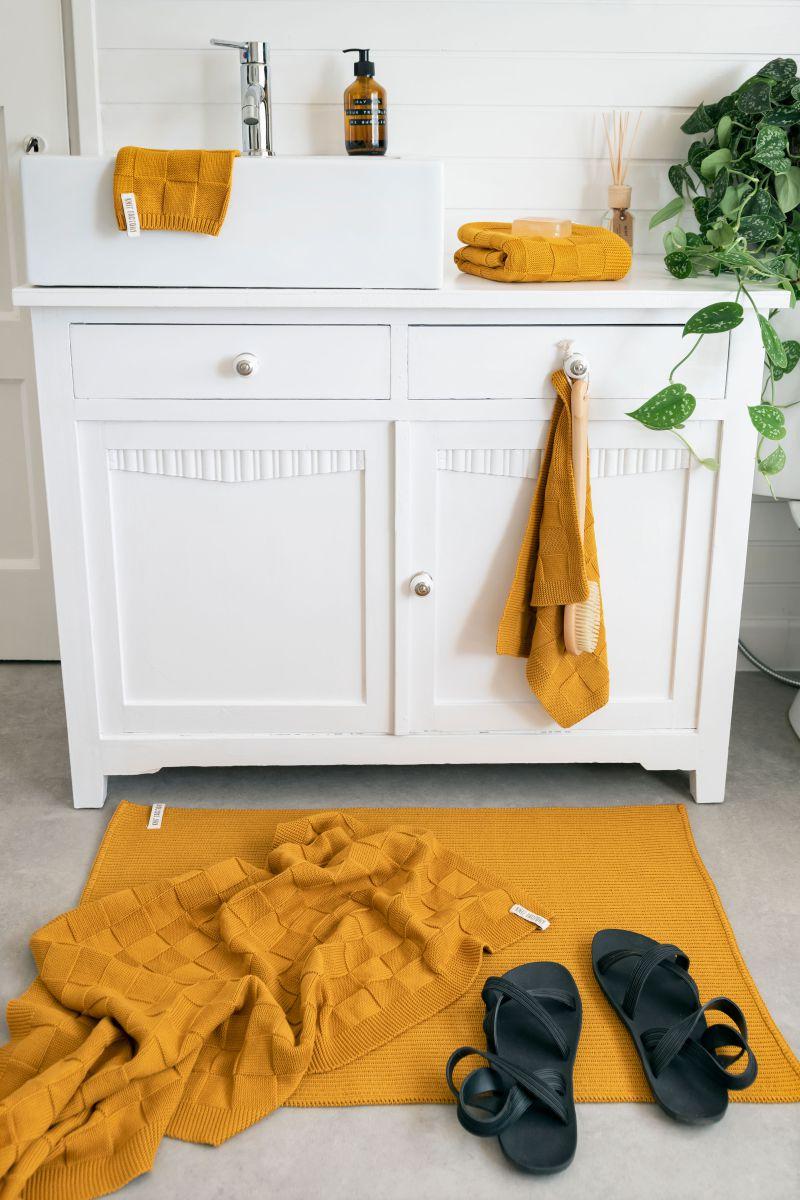 bath towel ivy ochre 70x140
