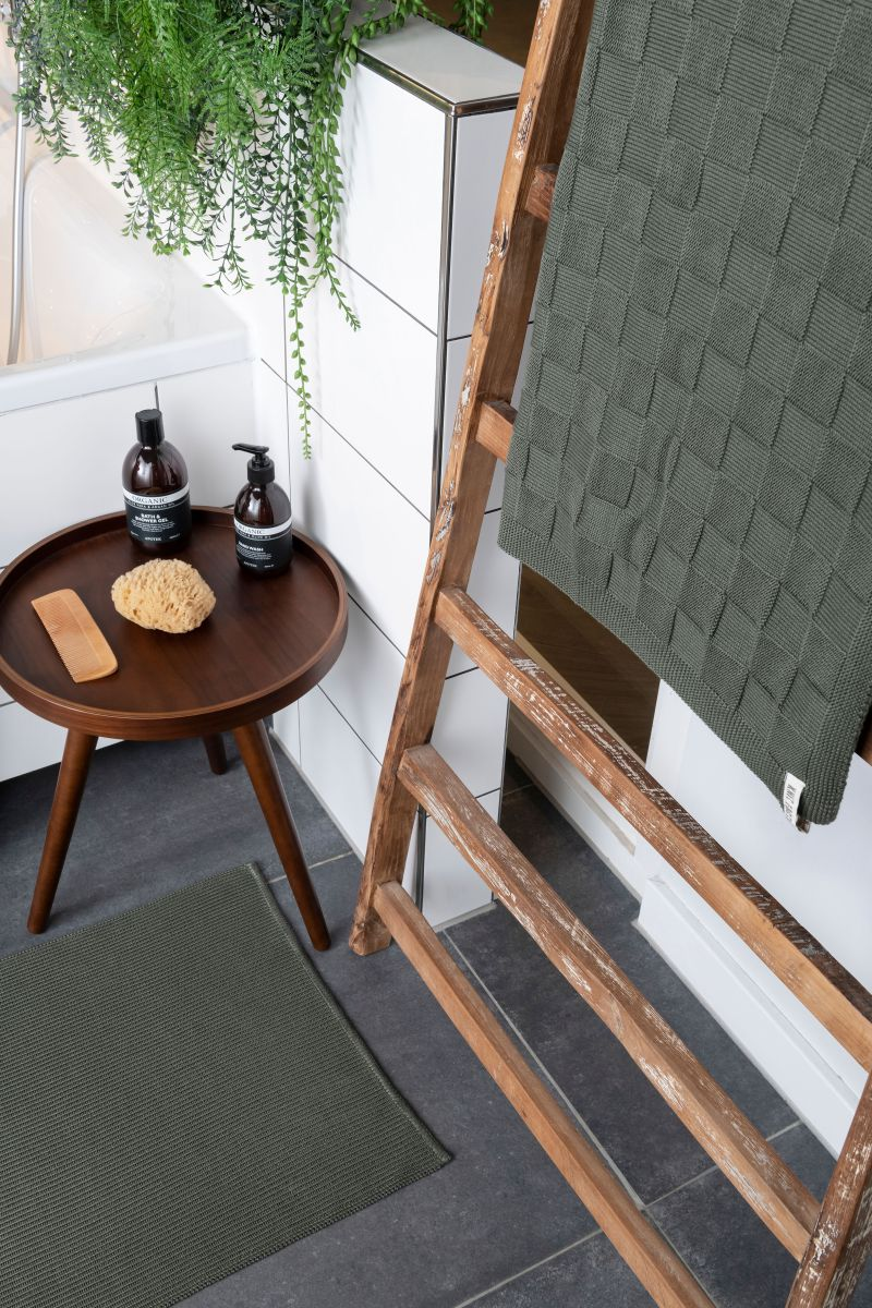 bath towel ivy ochre 90x180