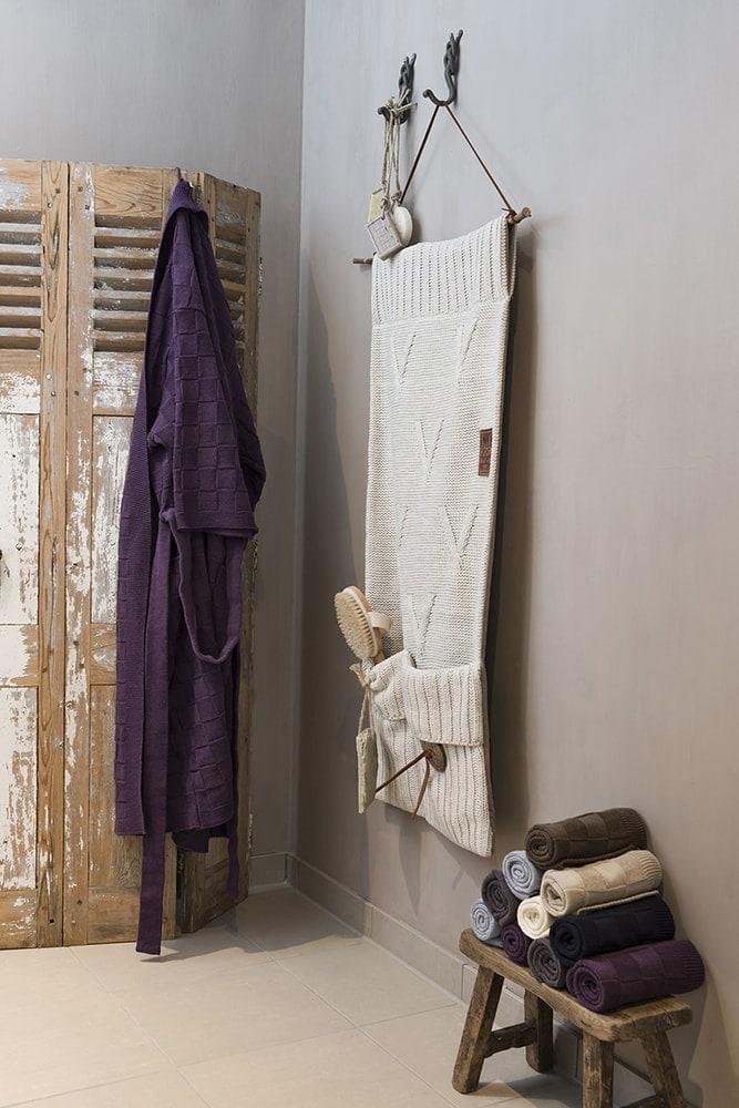 bathrobe size m light grey