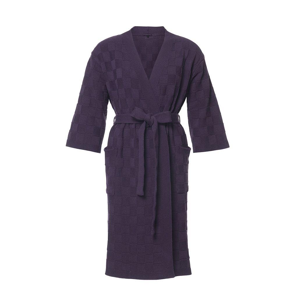 bathrobe size m purple