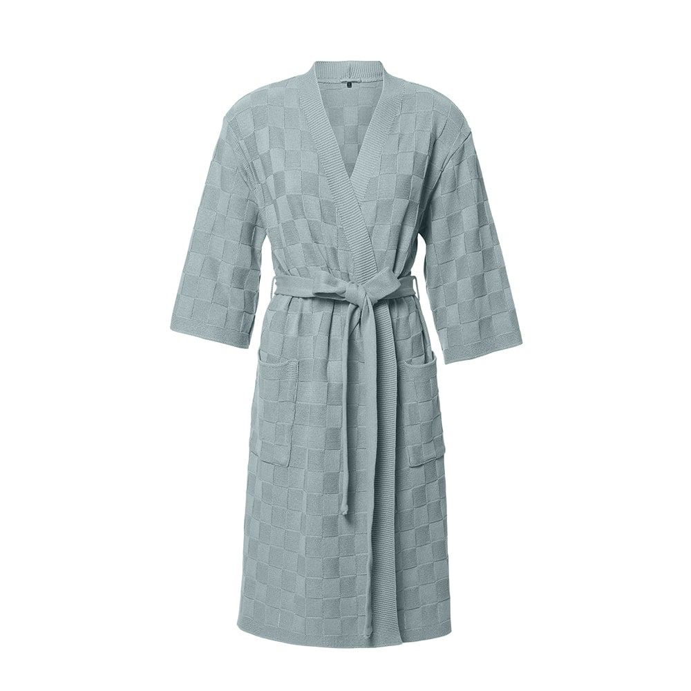 bathrobe size m stone green
