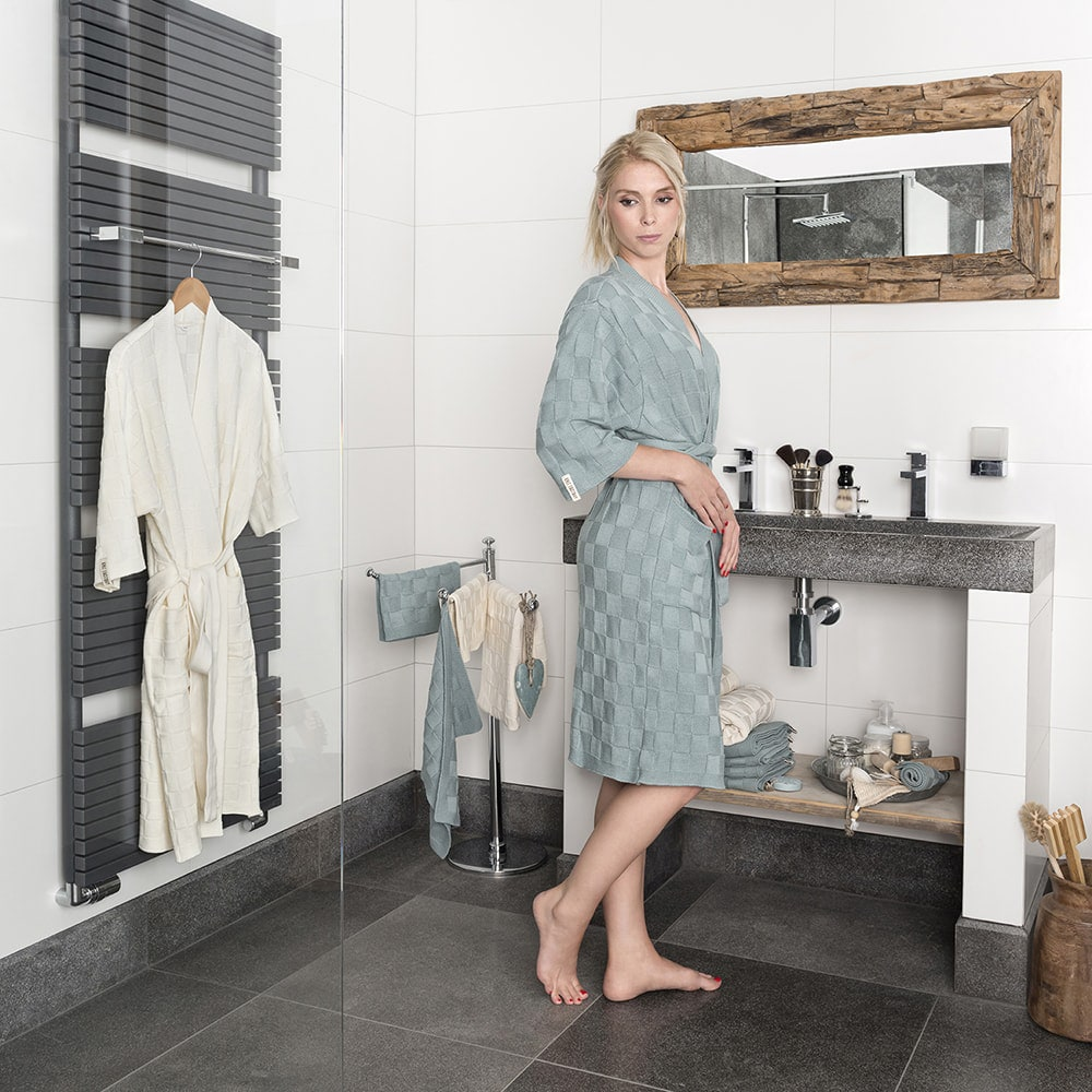 bathrobe size s light grey