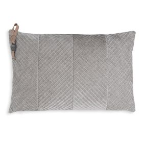 Beau Cushion Light Grey - 60x40