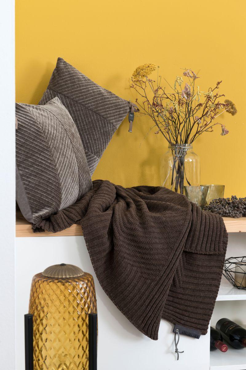 beau cushion taupe 60x40