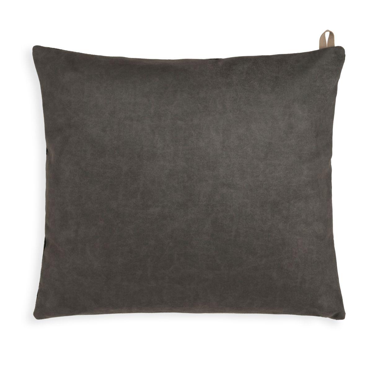 knit factory kf149012037 beau kussen donkerbruin 50x50 2