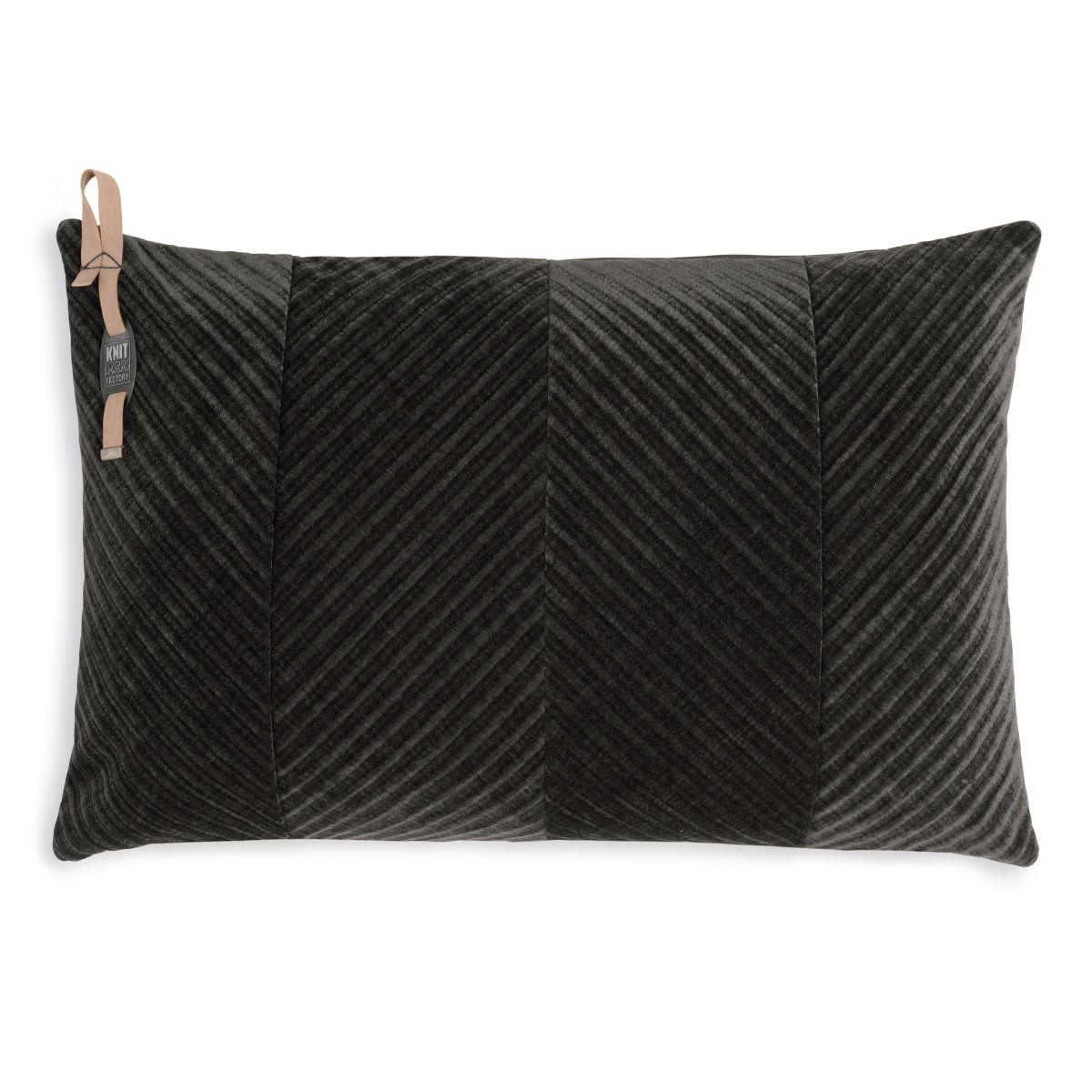 knit factory kf149013037 beau kussen donkerbruin 60x40 1