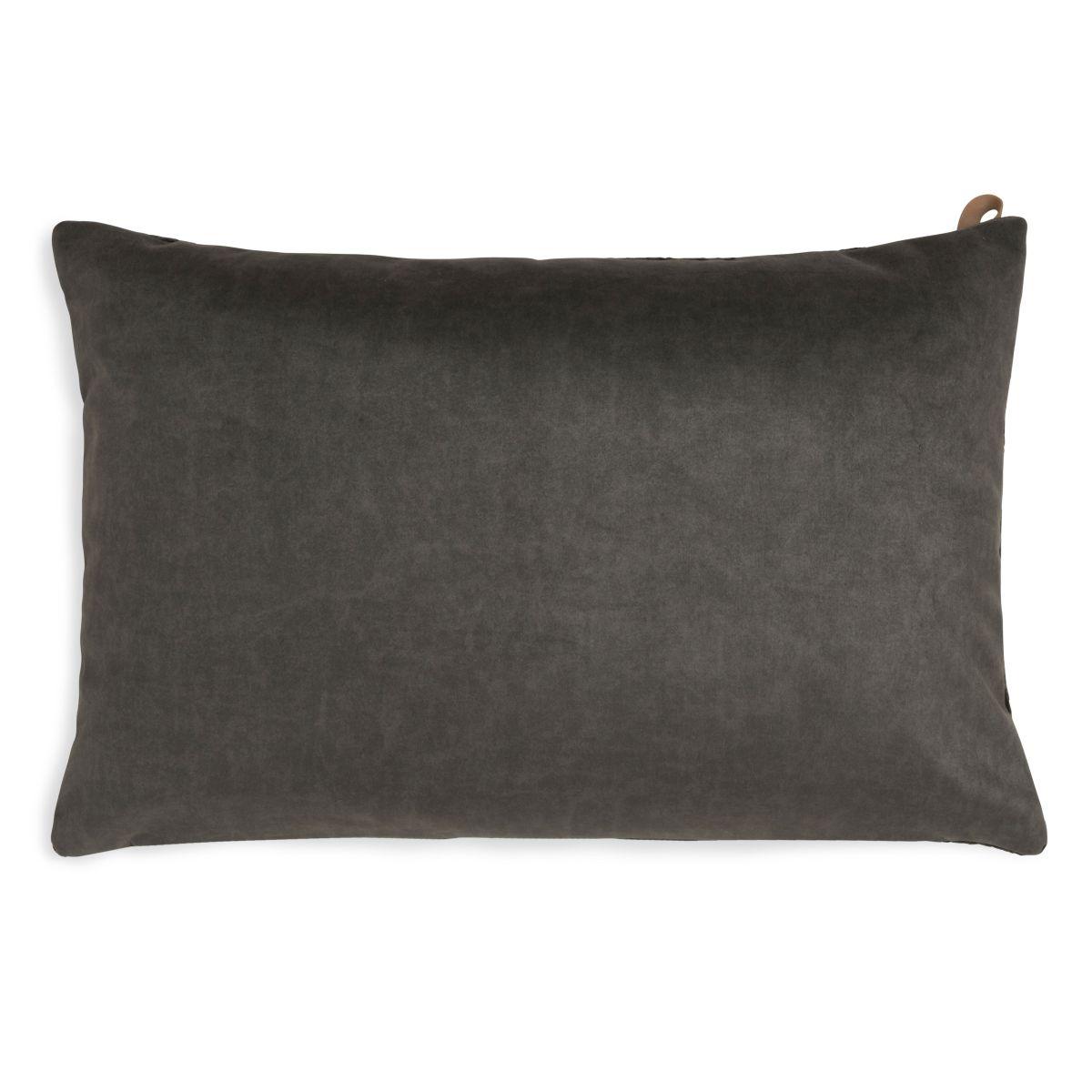 knit factory kf149013037 beau kussen donkerbruin 60x40 2