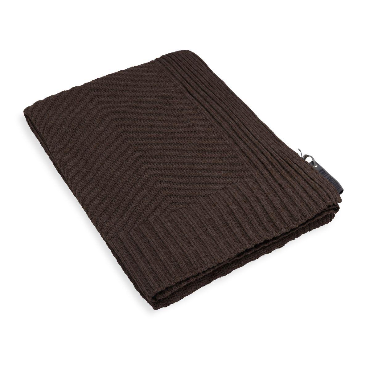 knit factory kf149011037 beau plaid donkerbruin 1