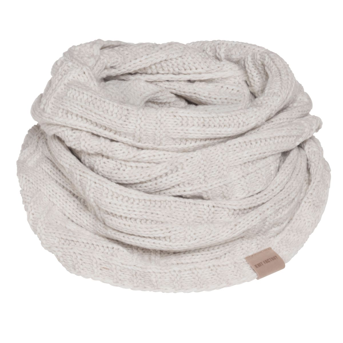 knit factory kf144066012 bobby colsjaal beige 1