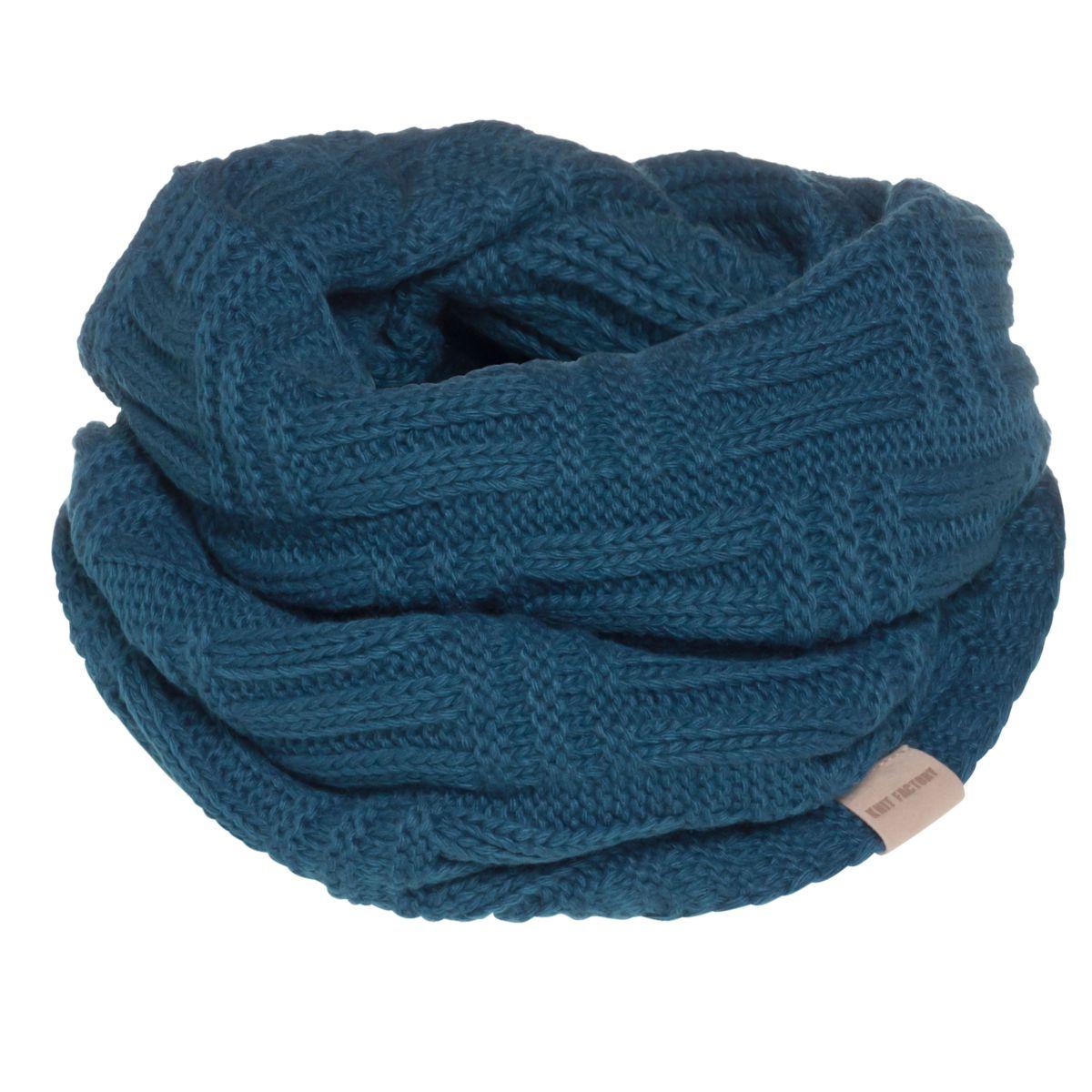 knit factory kf144066008 bobby colsjaal petrol 1