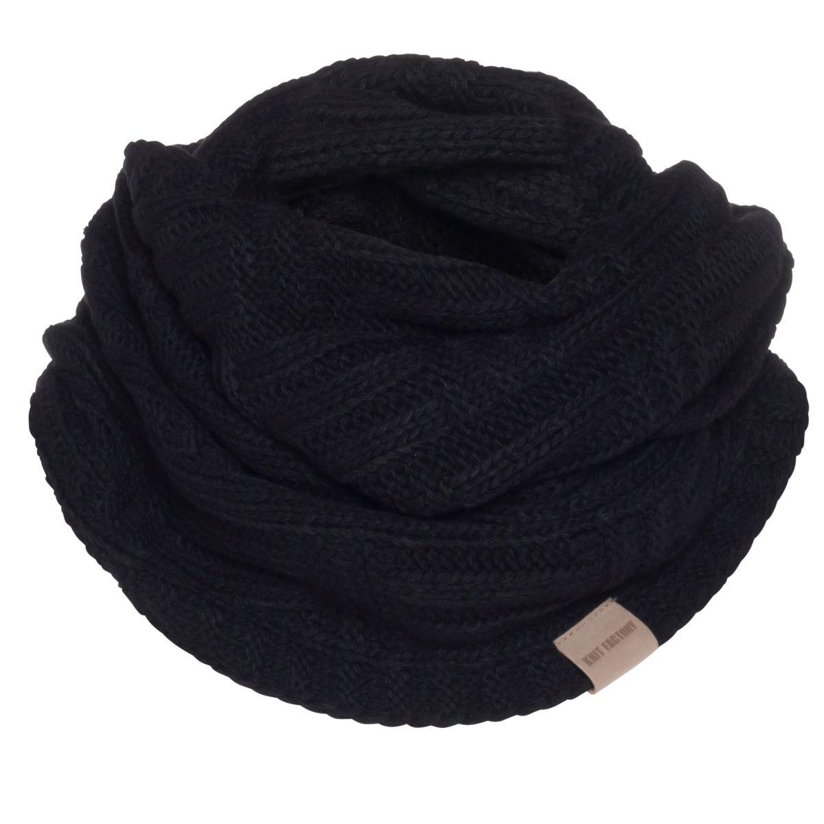 knit factory kf144066000 bobby colsjaal zwart 1