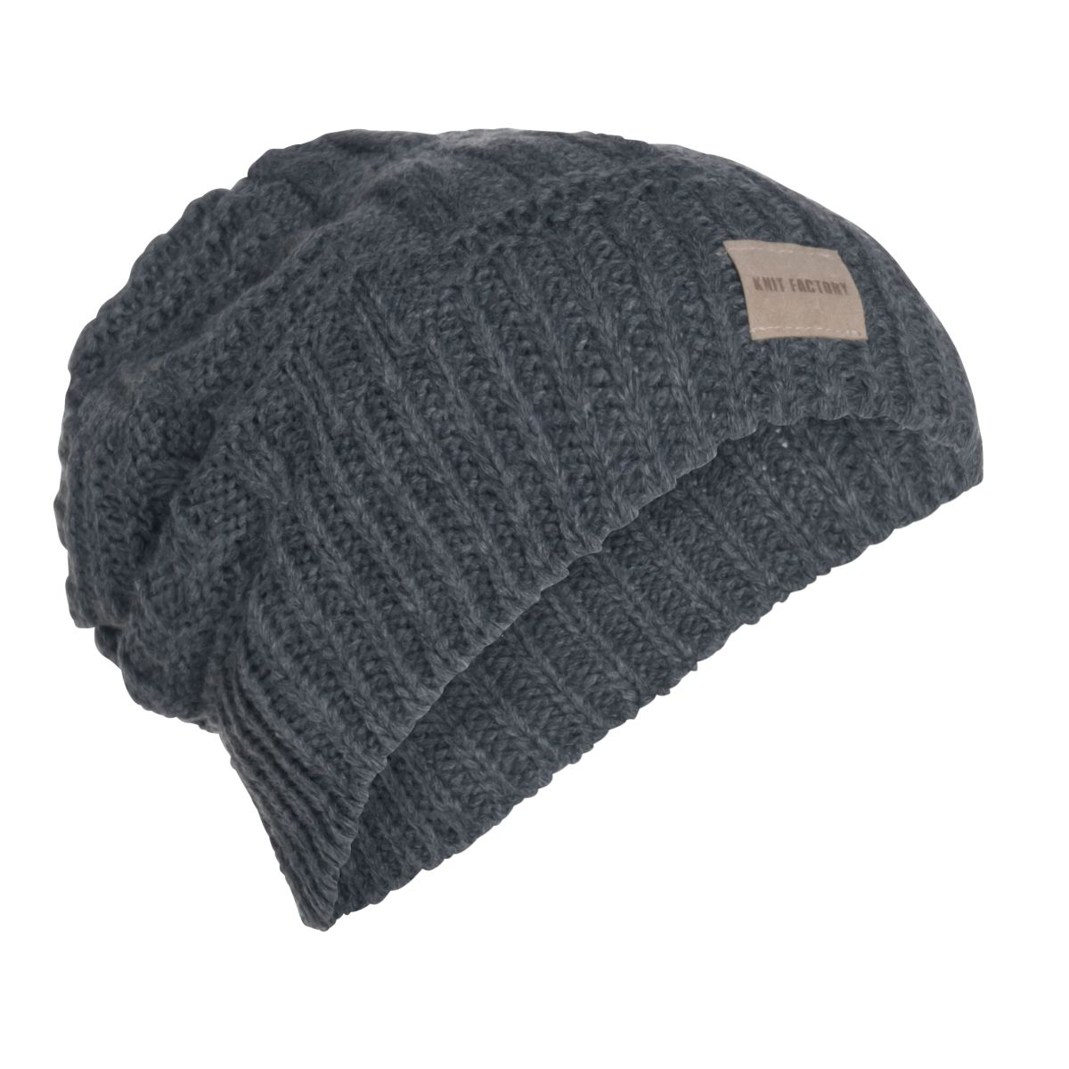 knit factory kf14407001050 bobby muts antraciet 1