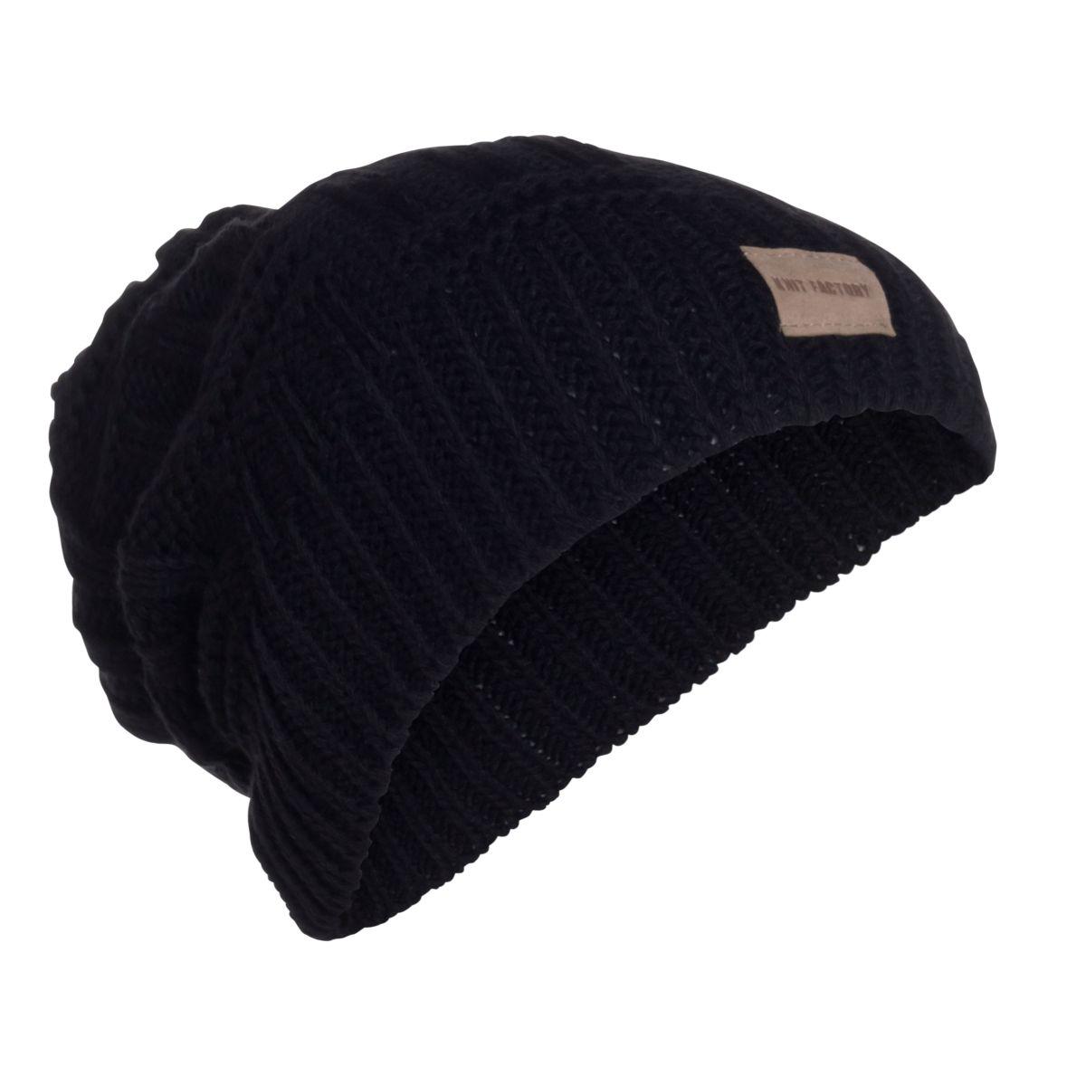 knit factory kf14407000050 bobby muts zwart 1