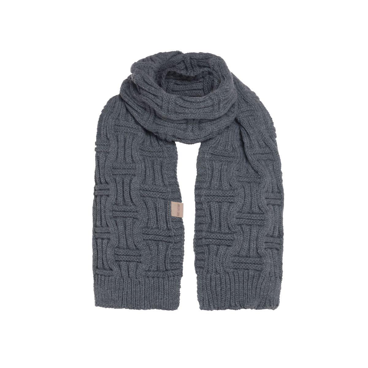 knit factory kf14406501050 bobby sjaal antraciet 1