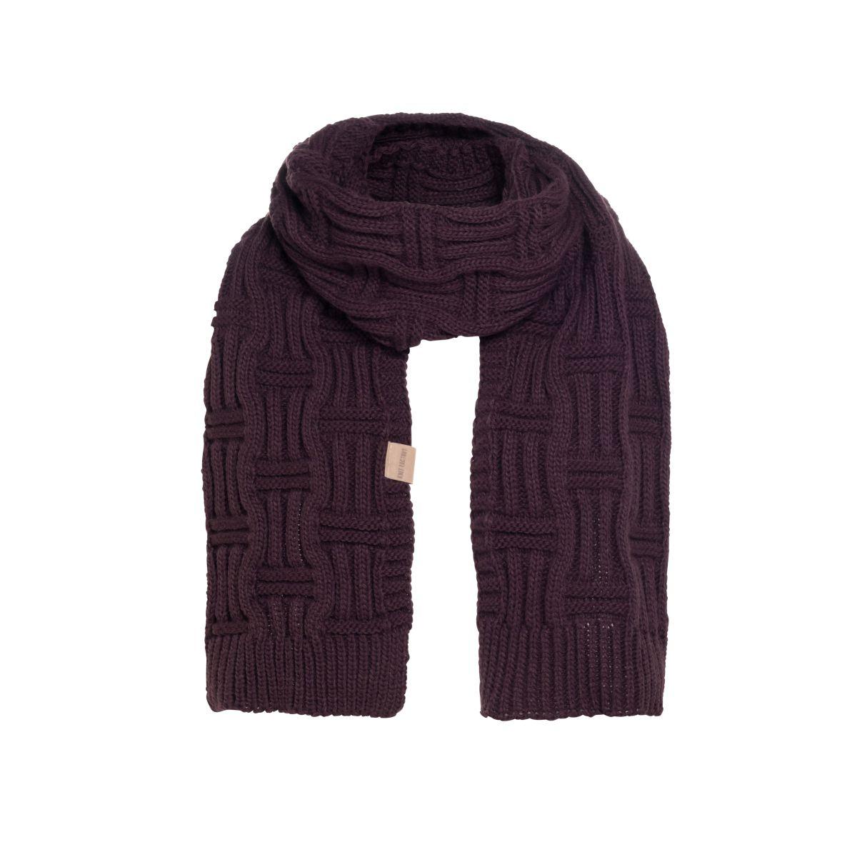 knit factory kf14406502350 bobby sjaal aubergine 1