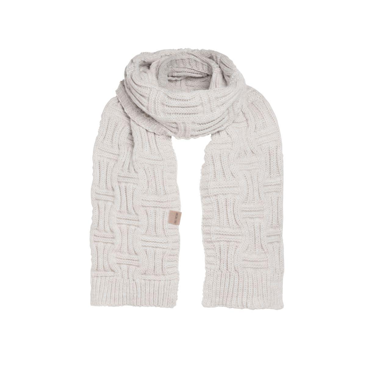 knit factory kf14406501250 bobby sjaal beige 1