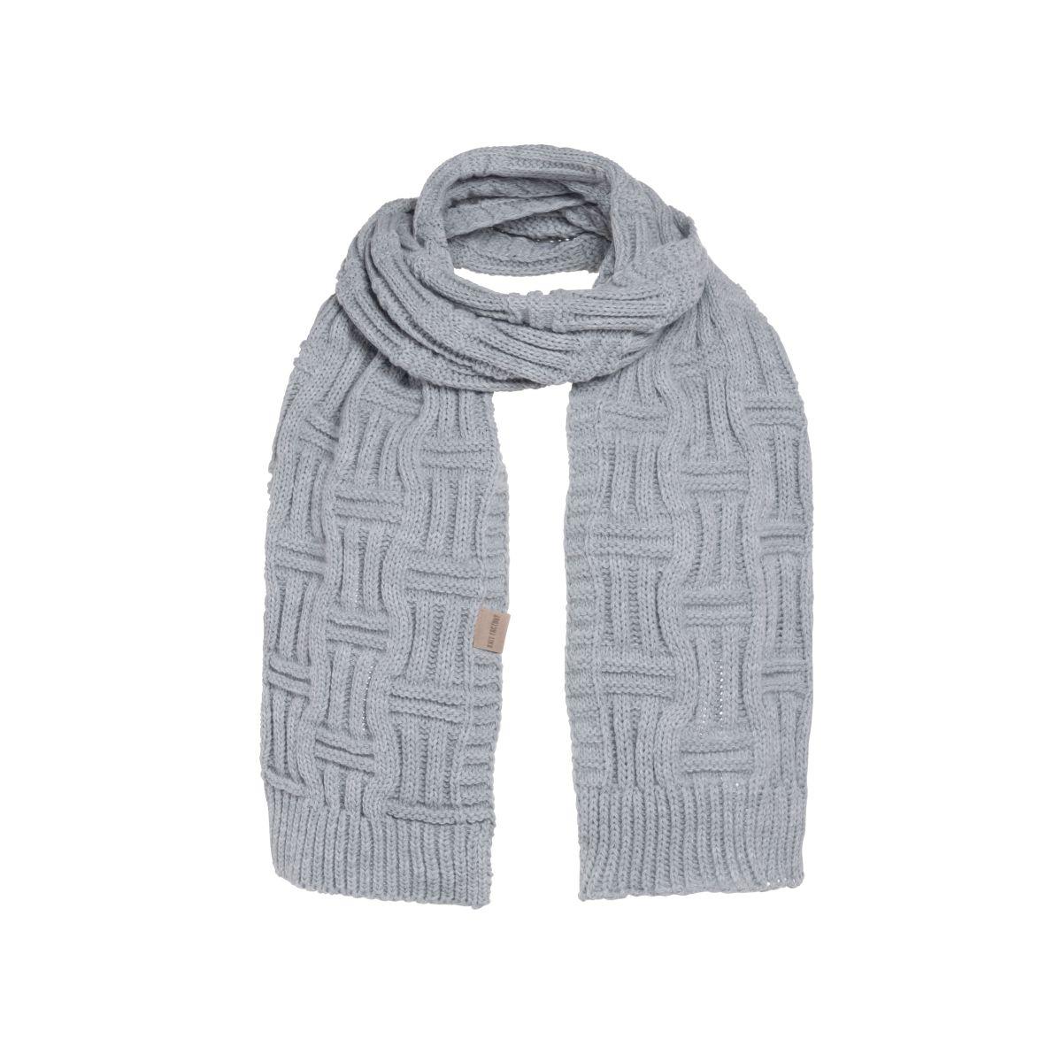 knit factory kf14406501150 bobby sjaal licht grijs 1