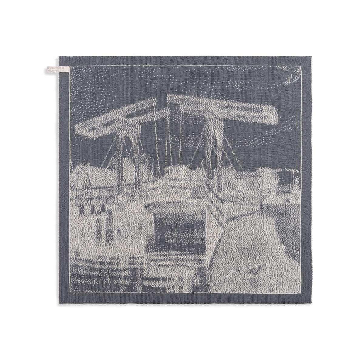 knit factory 2320079 keukendoek brug ecru med grey 2