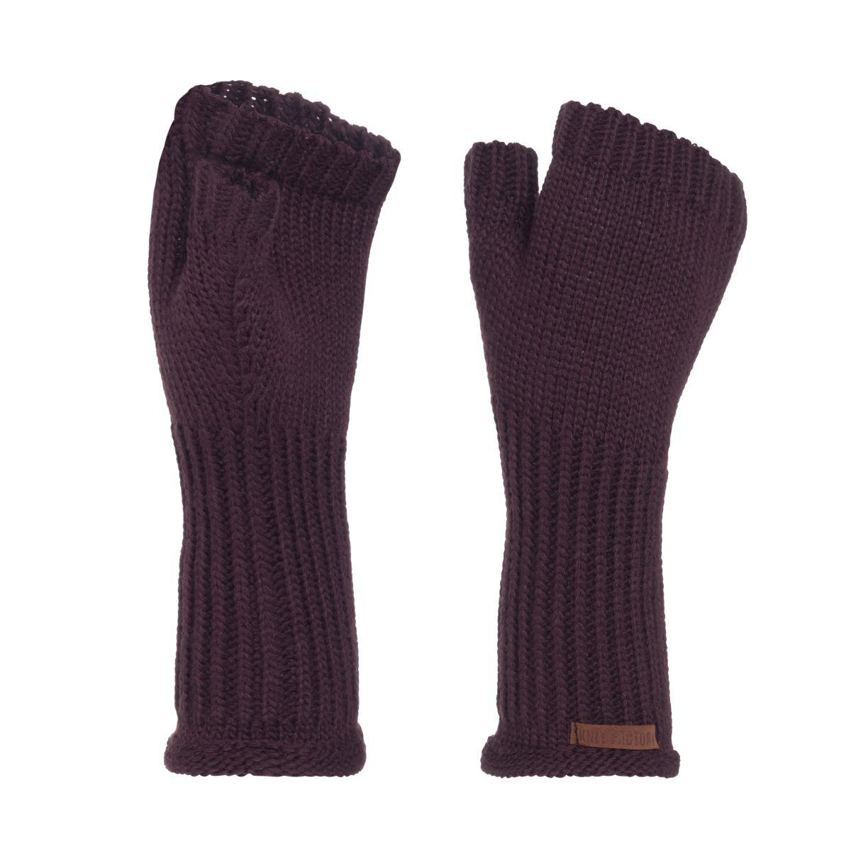 cleo gloves aubergine