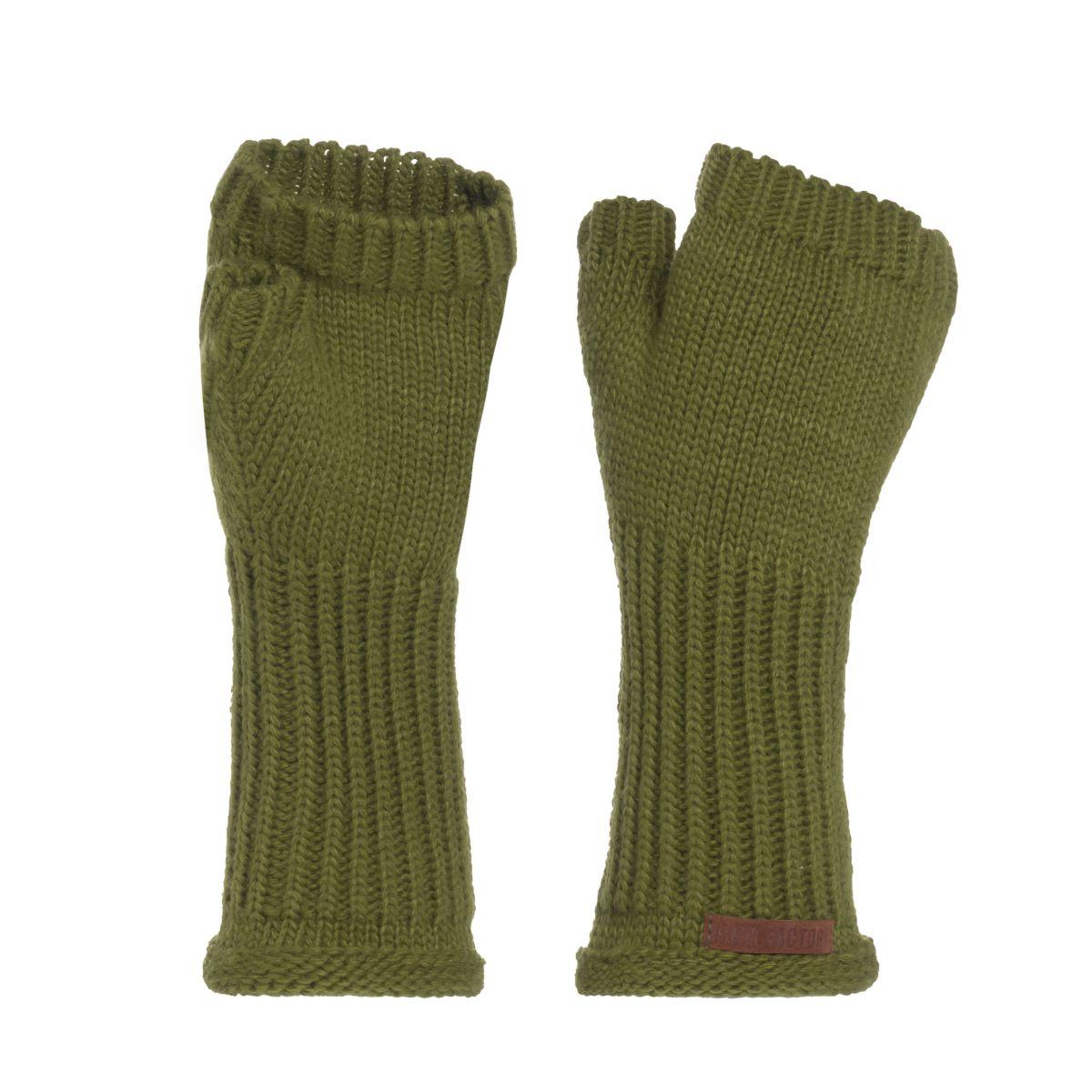 cleo gloves moss green