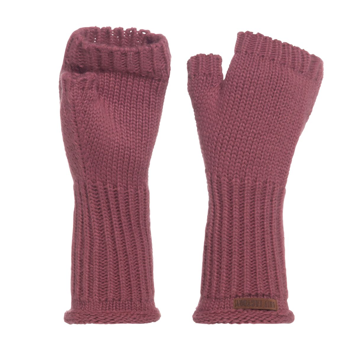 cleo gloves stone red