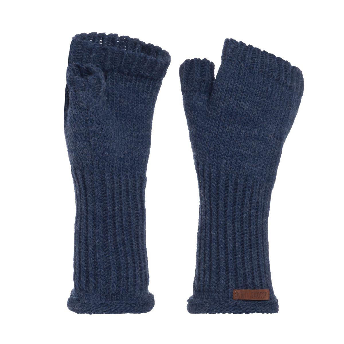 knit factory kf14607501350 cleo handschoenen jeans 1