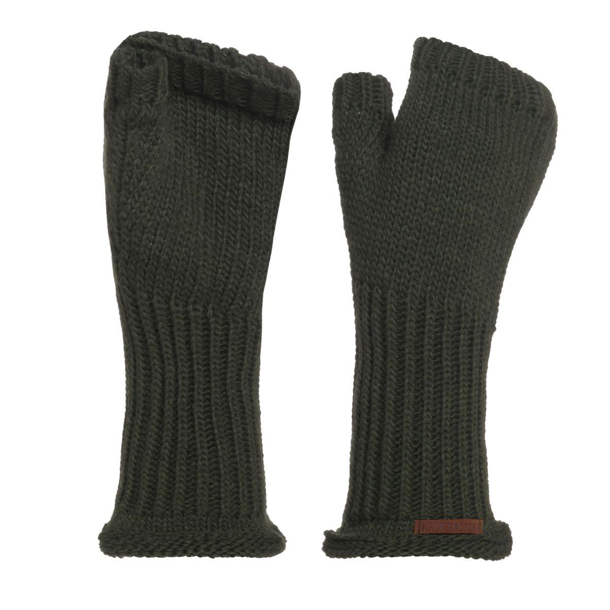 knit factory kf14607502550 cleo handschoenen khaki 1
