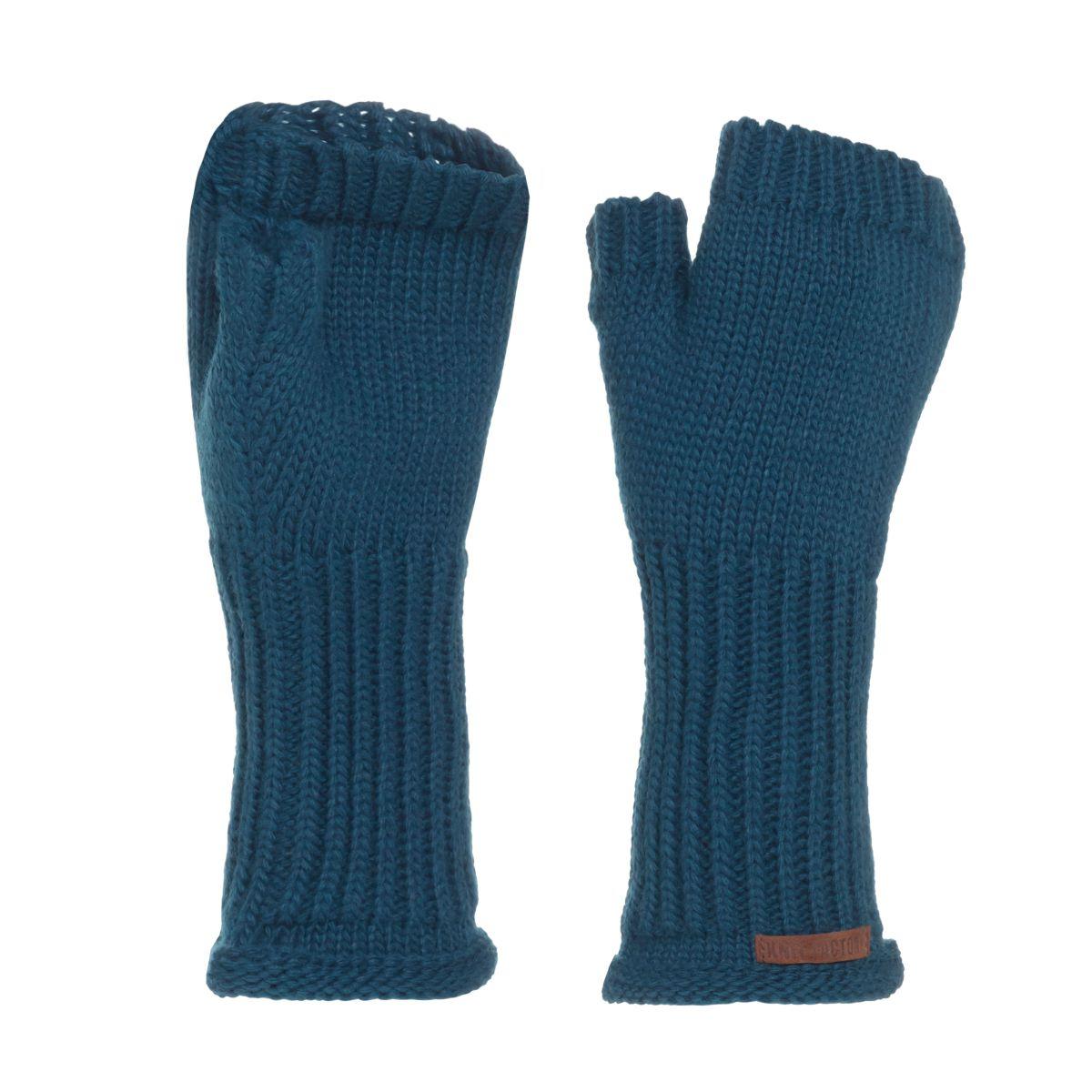 knit factory kf14607500850 cleo handschoenen petrol 1