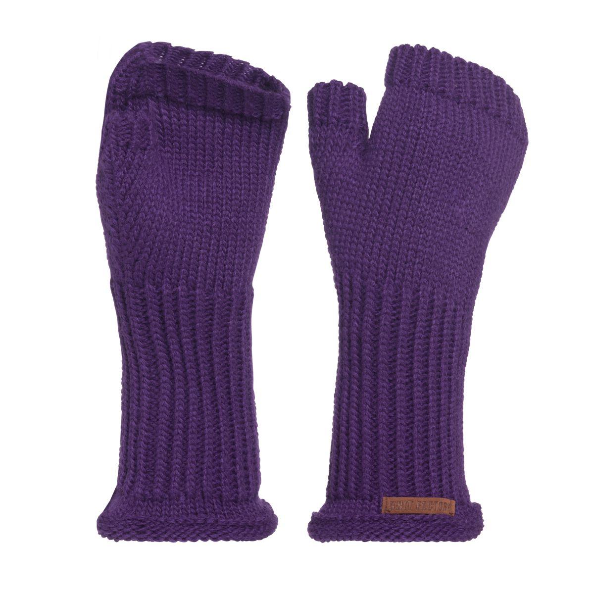 knit factory kf146075123 cleo handschoenen purple 1