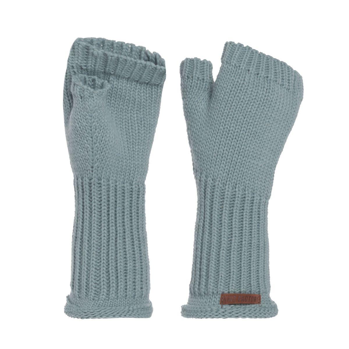 knit factory kf14607500950 cleo handschoenen stone green 1