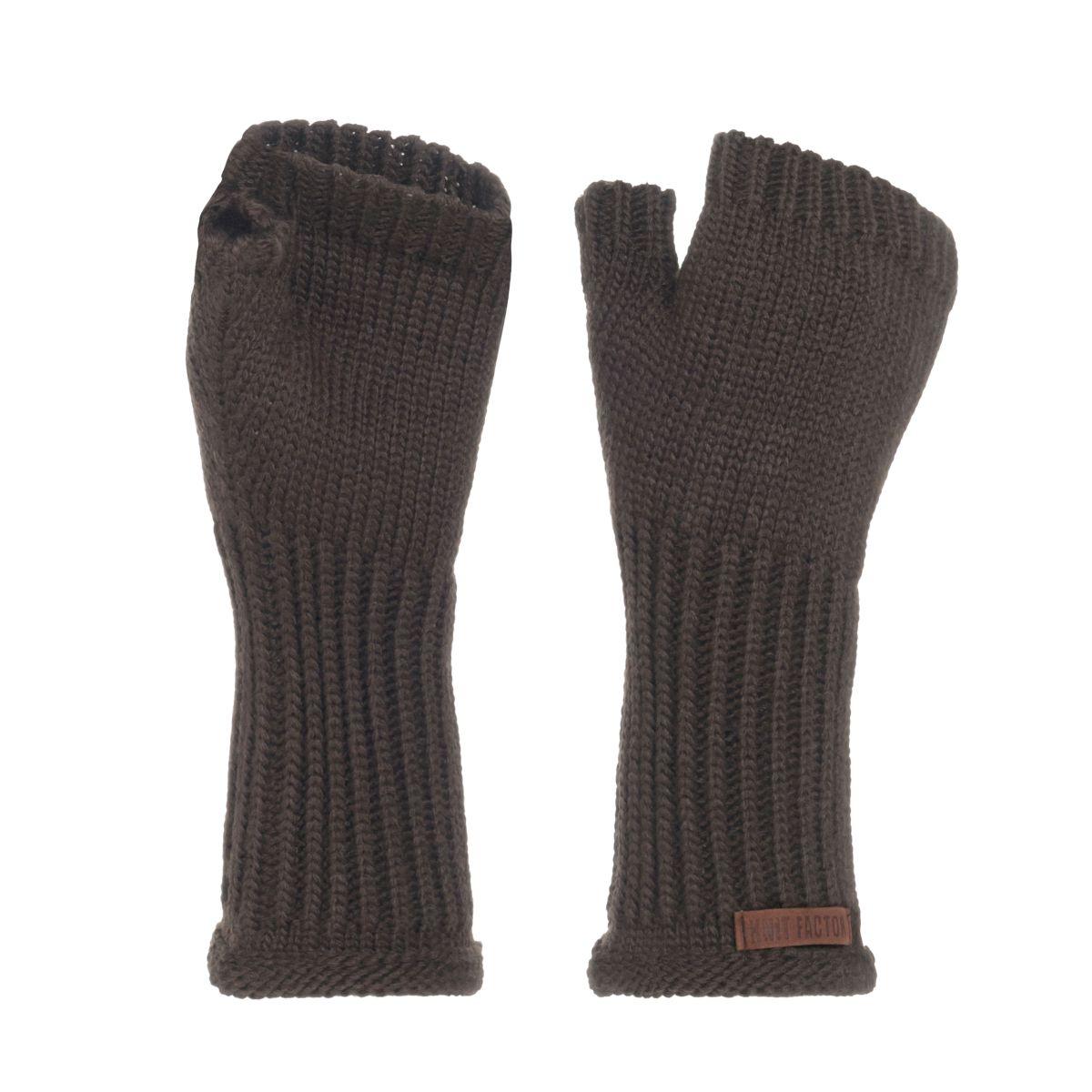 knit factory kf14607502950 cleo handschoenen taupe 1