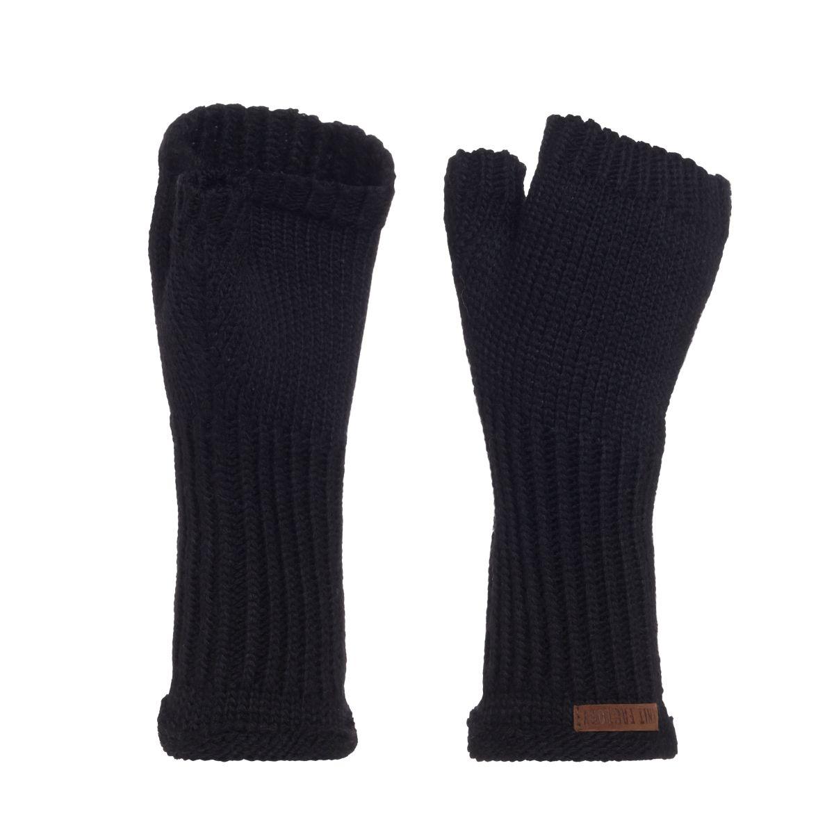 knit factory kf14607500050 cleo handschoenen zwart 1