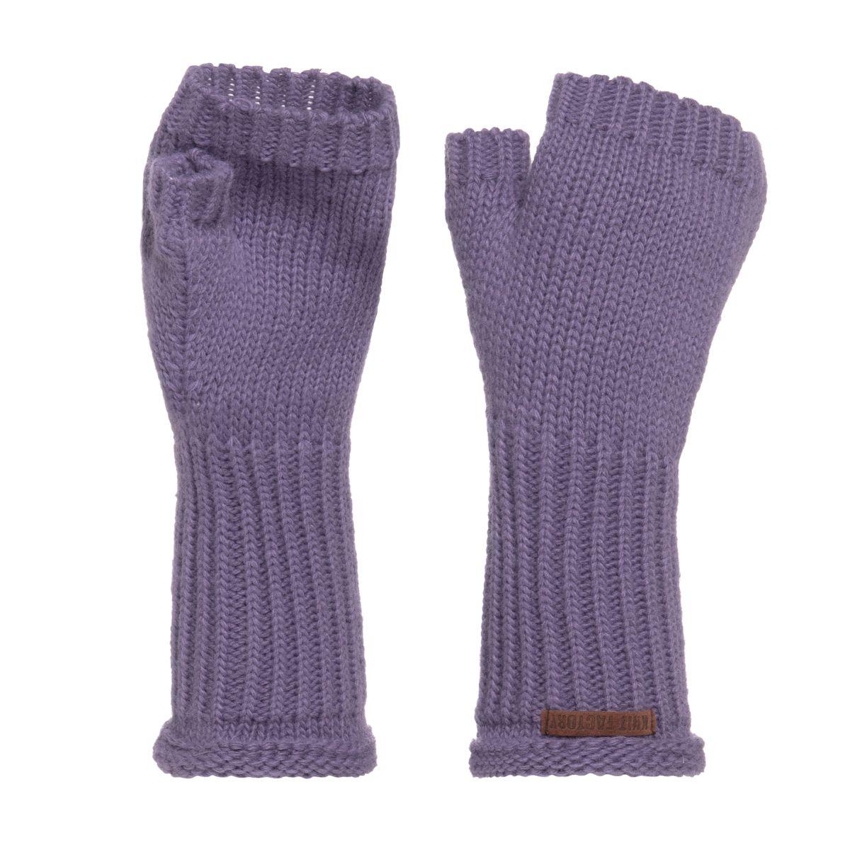 cleo handstulpen violett