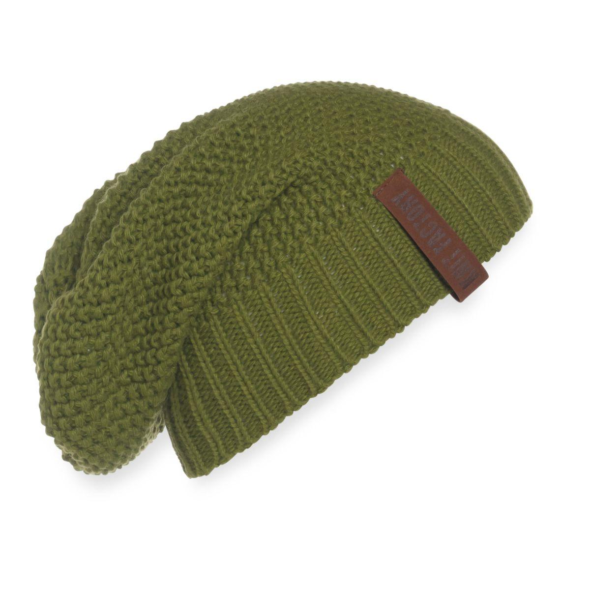 coco beanie moss green