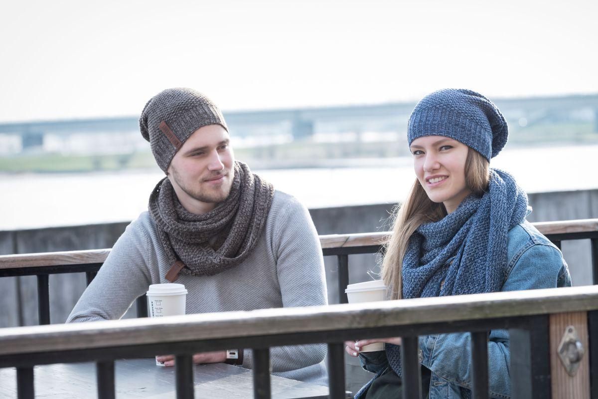 knit factory 1206648 coco colsjaal bruin marron 3