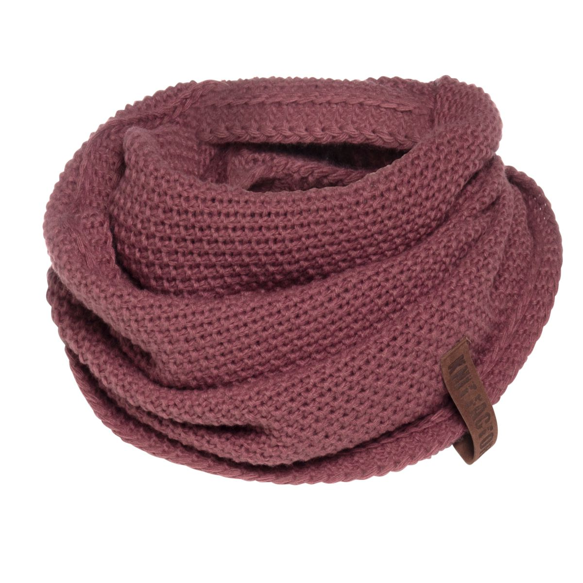 knit factory kf120066038 coco omslagdoek stone red 1