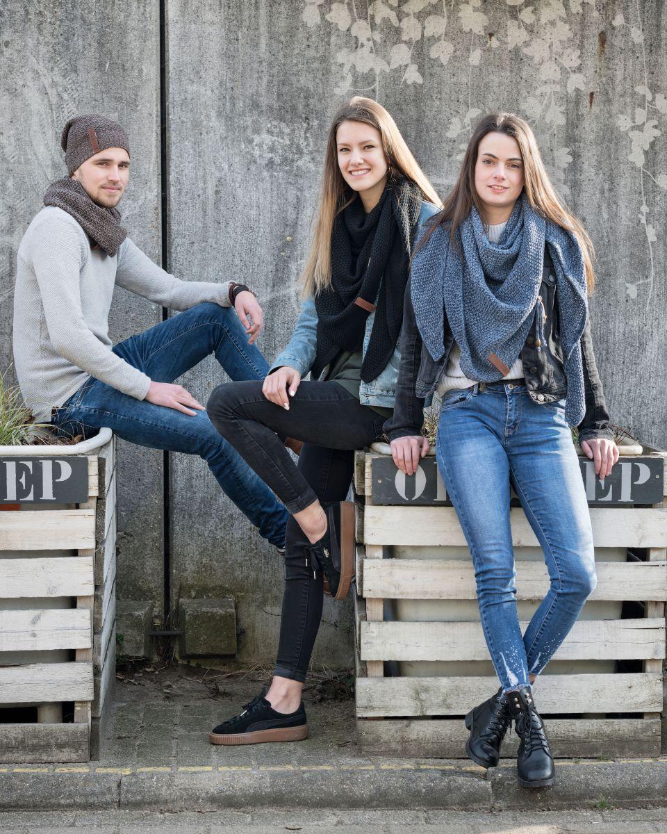 coco dreiecksschal jeansindigo