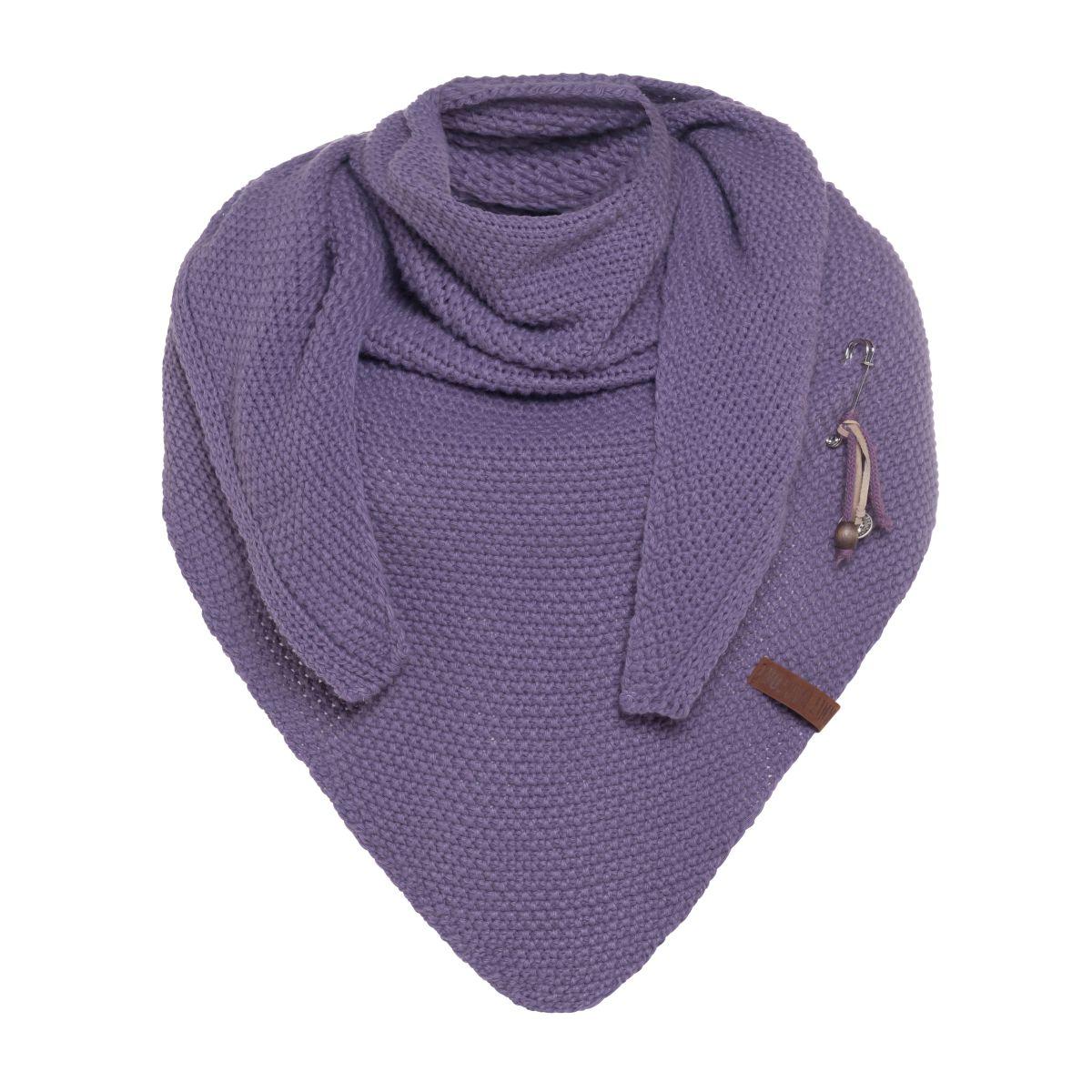 coco dreiecksschal violett