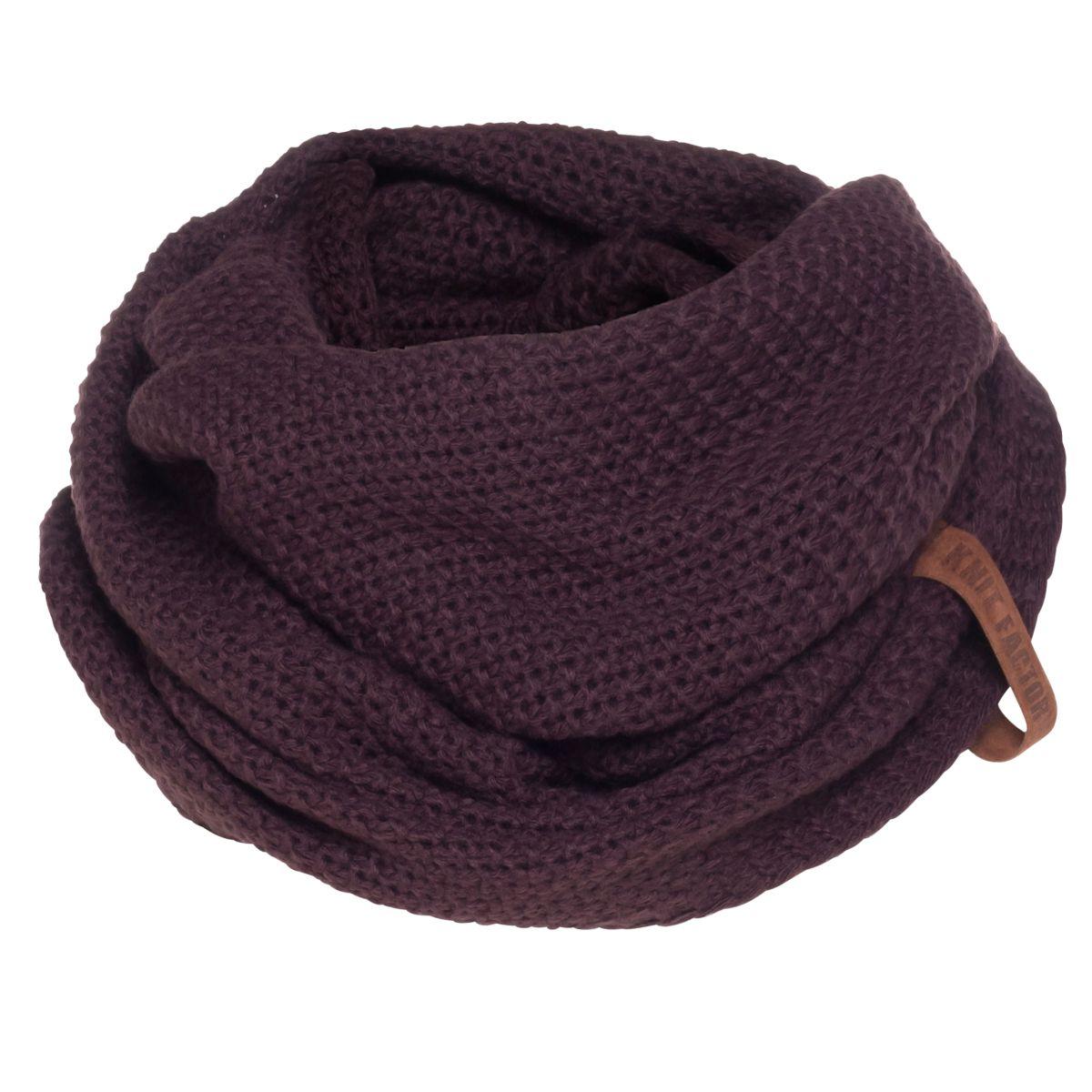 coco infinity scarf aubergine