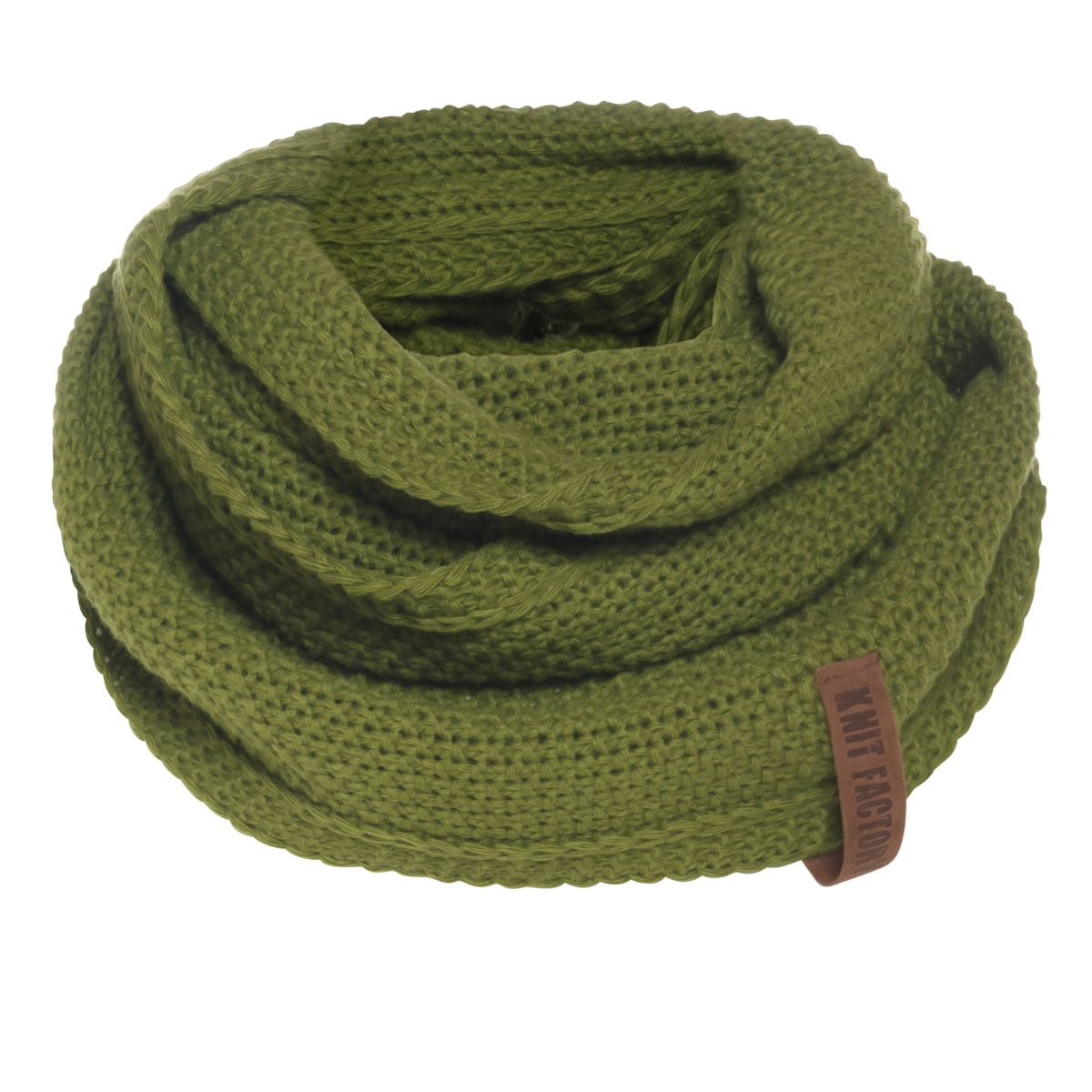 coco infinity scarf moss green
