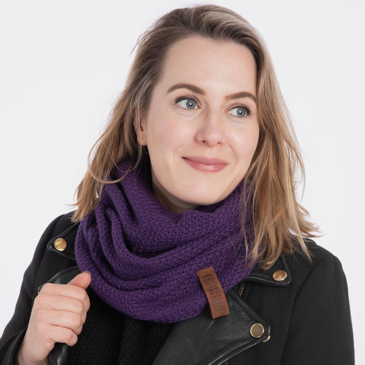 coco infinity scarf purple