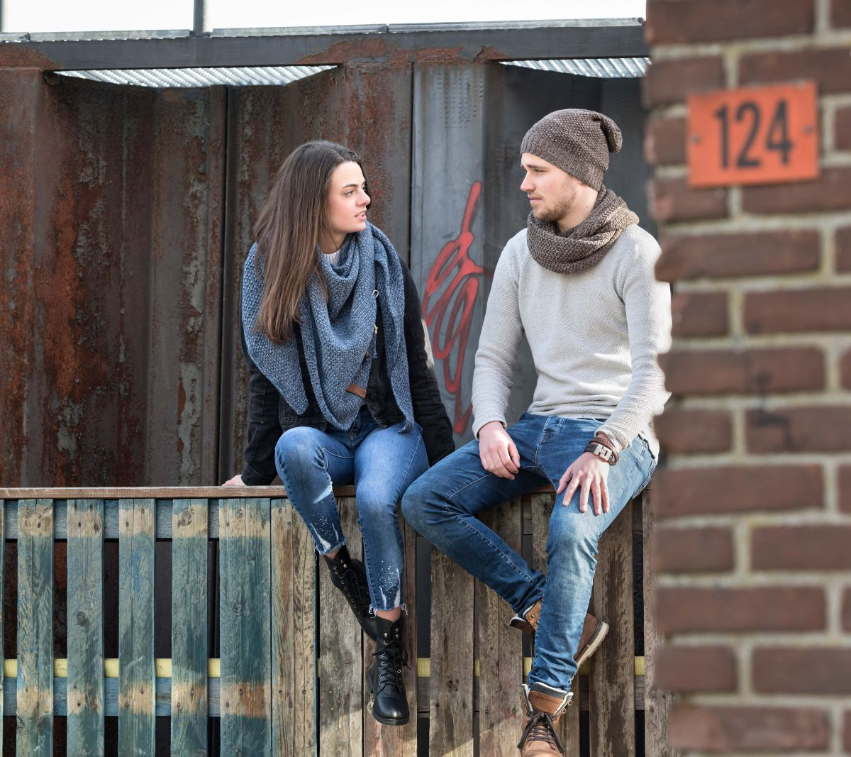 knit factory 1207048 coco beanie bruin marron 6