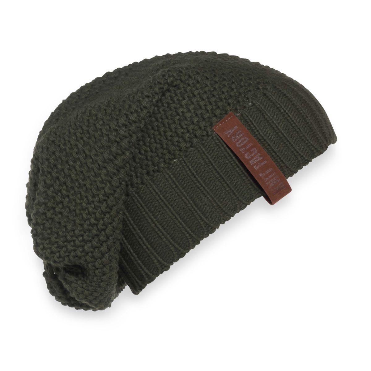 knit factory 1207025 coco beanie khaki 1