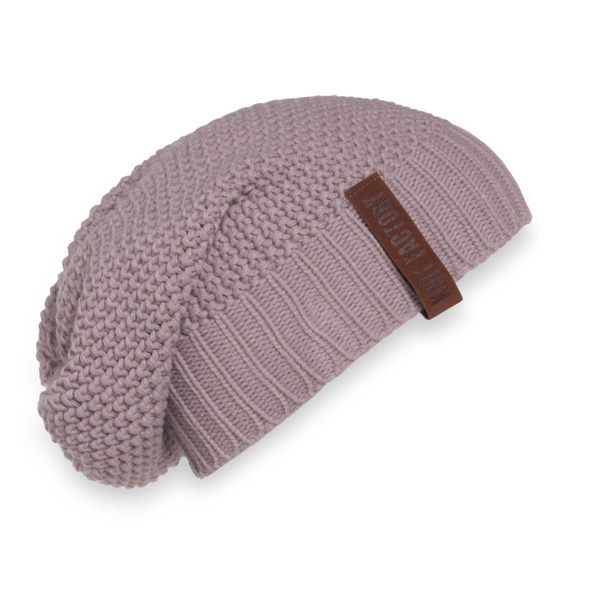 knit factory 1207034 coco beanie mauve 1