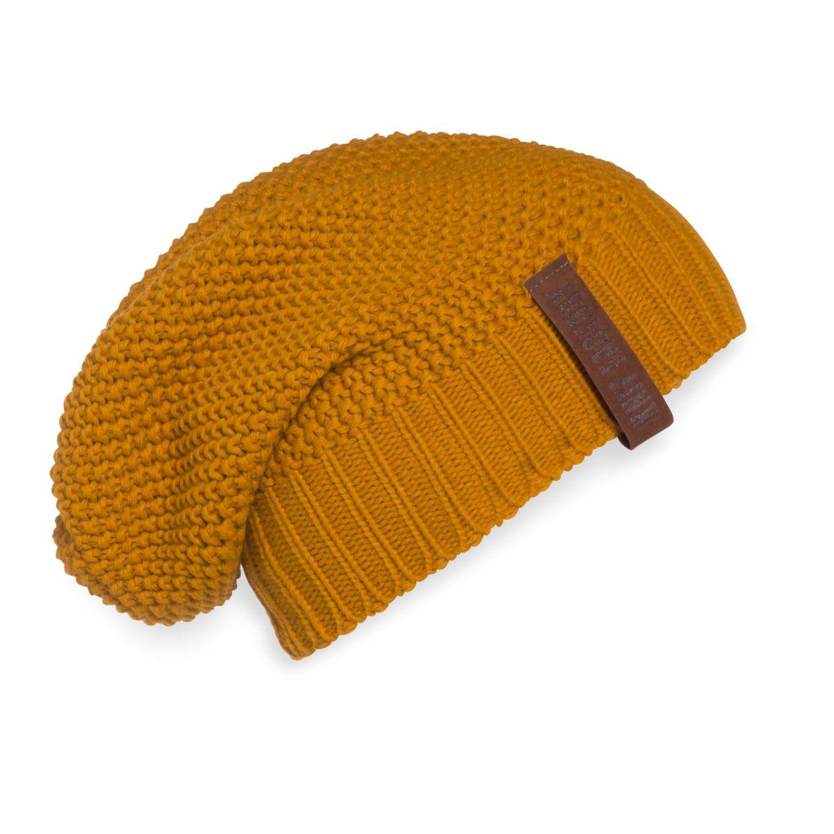 knit factory 1207017 coco beanie oker 1